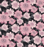 Pale pink color stylized floral seamless pattern. Royalty Free Stock Photos