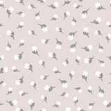 Pale pastel color vector seamless pattern whith light tulips. Texture for wrapping paper, scrapbooking design. Pale pink delicate pastel color seamless pattern royalty free illustration