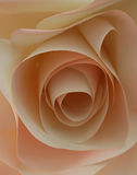 Pale Pink Origami Rose Made av papper Royaltyfria Bilder