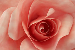 Pale Pink Origami Rose Made of Paper Stock Images