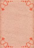 Pale-pink paper with pattern in form of hearts. Love. Valentine's Day Stock Images