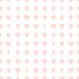 Pale-pink seamless pattern with hearts Stock Images