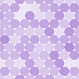 Pale purple vector seamless pattern with circles.  Monochrome abstract background. Royalty Free Stock Photo