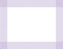 Pale Purple and White Checkered Frame. Background with center isolated for copy-space royalty free stock photography