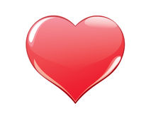 Pale red heart Royalty Free Stock Photos