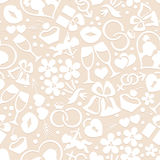 Pale romantic seamless pattern Stock Image