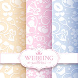 Pale romantic seamless patterns Royalty Free Stock Photography