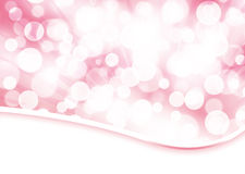 Pale rose bokeh abstract background. With circles and rays Stock Photos