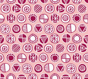 Pale rose color seamless pattern Stock Images