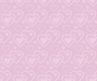 Pale rose color vector pattern with heart Stock Photography