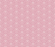 Pale rose color vector pattern with heart Stock Photos