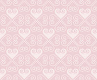 Pale rose color vector pattern with heart Royalty Free Stock Image