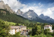 The Pale of San Martino group view from San Martino di Castrozza royalty free stock image