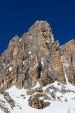 Pale of San Martino and Pradidali mountain hut, Dolomites, italy Royalty Free Stock Photo