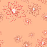 Pale seamless pattern with delicate magnolia flowers on a creamy-pink. Royalty Free Stock Photography