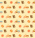 Pale seamless pattern with toys Stock Images