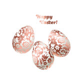 Pale shiny metal Easter egg decoration vector illustration. Royalty Free Stock Images