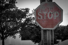 Pale stop sign Royalty Free Stock Photo