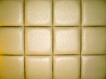 Pale Tan Leather Upholstery Royalty Free Stock Photography