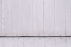Pale white wood pattern or texture and nail head Stock Photos