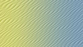 Pale yellow and blue  diagonal curves and angles abstract background illustration. Computer generated diagonal curves, angles, and lines abstract wallpaper stock illustration