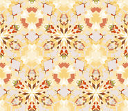 Pale yellow seamless pattern. Seamless pattern composed of color abstract elements located on white background. Useful as design element for texture, pattern Stock Images