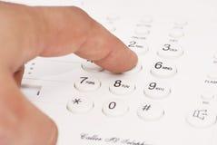 palec tworzył mężczyzna liczby telefon który Zdjęcia Stock
