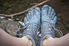 Palec u nogi buty Fotografia Royalty Free