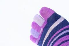 Palec u nogi skarpety obrazy stock
