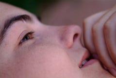 palec usta Zdjęcie Stock