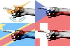palec zaznacza krajowego target4106_0_ set Zdjęcie Royalty Free