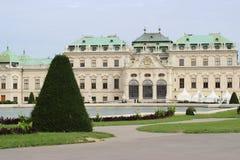 Paleis in de Belvederegarten-tuin Wenen Royalty-vrije Stock Foto's