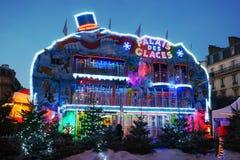 Paleis December 2015 Frankrijk van het Kerstmis het Eerlijke Ijs Royalty-vrije Stock Afbeelding
