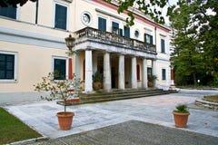 Paleis in het eiland van Korfu Stock Afbeelding