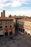 Paleis in het hoofdvierkant van Bologna Royalty-vrije Stock Afbeelding