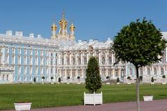 Paleis-hof van het paleis van Catherine in Tsarskoe Selo Stock Foto