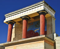 Paleis in Knossos royalty-vrije stock foto's
