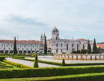 Paleis in Lissabon in Portugal royalty-vrije stock afbeelding