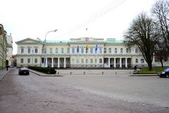 Paleis officiële woonplaats van de President van Litouwen royalty-vrije stock foto