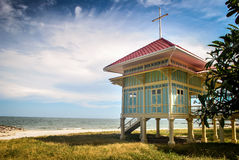 paleis op het strand Thailand Stock Foto's