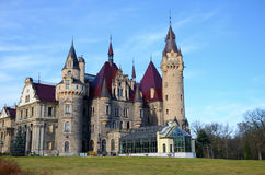Paleis in Polen (Moszna) Royalty-vrije Stock Afbeeldingen