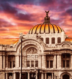 Paleis van Beeldende kunsten in Mexico-City Stock Fotografie