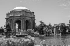 Paleis van Beeldende kunsten, San Francisco, Californië-Zwarte & wit royalty-vrije stock afbeeldingen