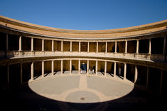 Paleis van Carlos in Alhambra, Granada, Spanje Royalty-vrije Stock Fotografie