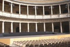 Paleis van Charles V, een Renaissancegebouw in Granada, Spanje Stock Fotografie