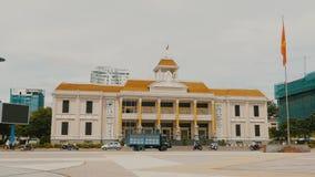 Paleis van cultuur en vrije tijd in de stad van Nha Trang vietnam stock video