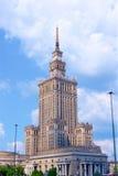 Paleis van Cultuur en Wetenschap Warschau Stock Foto