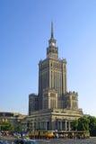 Paleis van Cultuur en Wetenschap, Warshau, Polen Stock Foto's