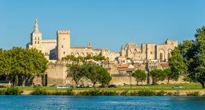 Paleis van de Pausen in Avignon stock afbeeldingen