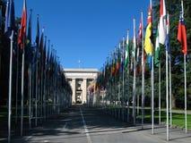 Paleis van de Verenigde Naties, Genève, Zwitserland Stock Afbeelding